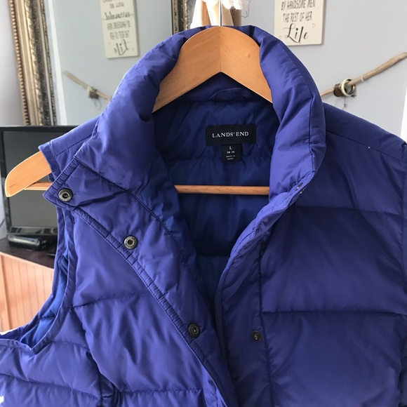 Lands' End Jackets & Blazers - Fitted Land's End Down Vest  Large with Pockets